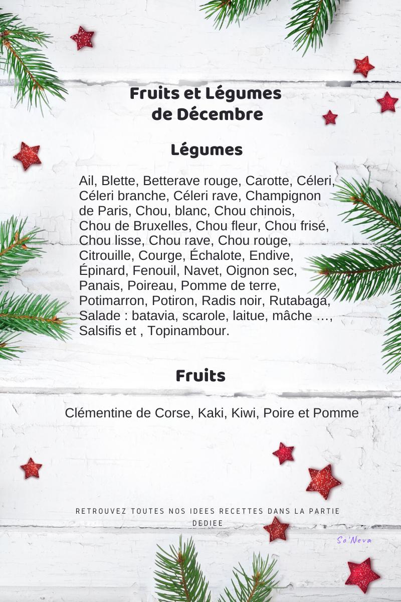 fruits legumes decembre